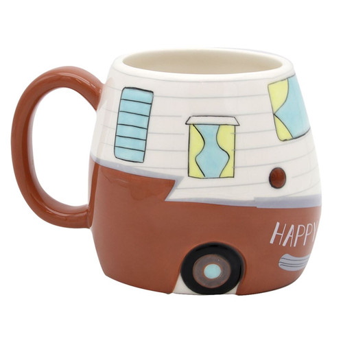 Happy Camper Mug Coffee or Tea 16 Ounces Dolomite