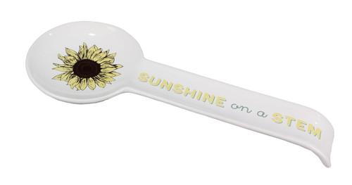 Sunflower Sunshine on a Stem Kitchen Spoon Rest Paula Deen Ceramic