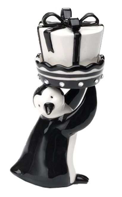 Black White Arctic Penguin With Gift Salt and Pepper Shaker