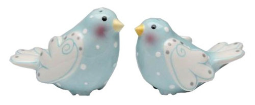 Marry Me Dove Love Blue Birds Salt and Pepper Shakers Set