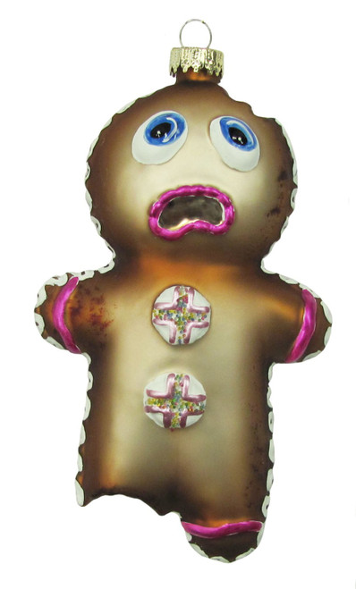 Christmas by Krebs Home Baked Cookie Gingerbread Man Glass Holiday Ornament