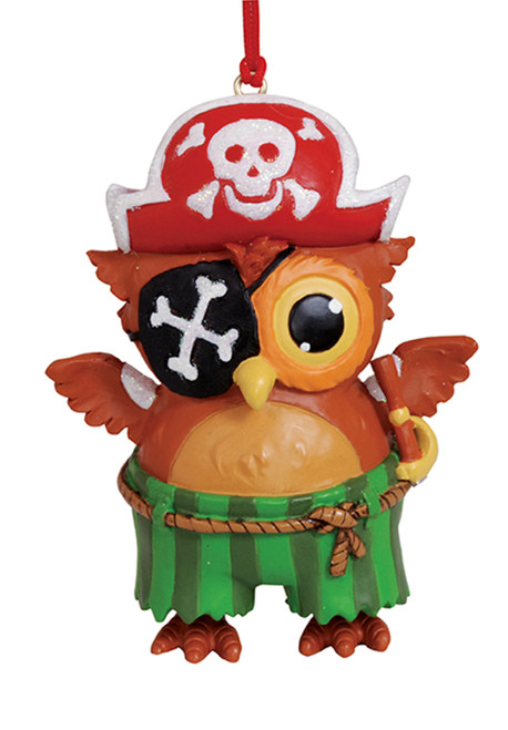 Cape Shore Jolly Ole Matey Pirate Owl Christmas Holiday Ornament