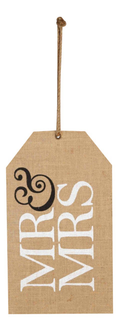 Mud Pie Mr and Mrs Wedding Hang Tags Door Wall Decor Burlap Photo Op Mud Pie