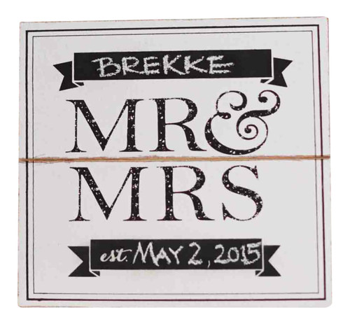 Mud Pie Mr Mrs Wedding Wooden Wall Sign Personalize Name Date Photo Op