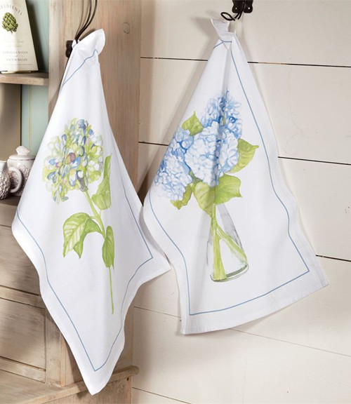 Green Hydrangea Mud Pie Decorative Towel