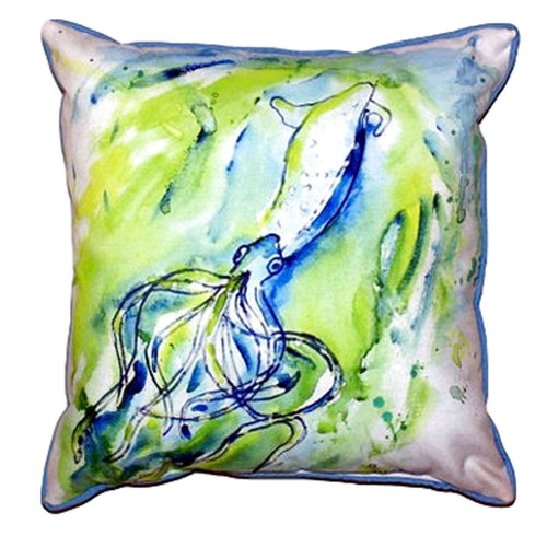Betsy Drake Calamari Accent Throw Pillow Indoor Outdoor 18 X 18 Inches