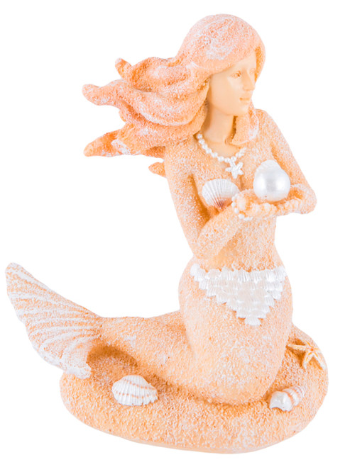 Beachcombers Sand and Shells Mermaid Tabletop Figurine Resin 4.75 Inches
