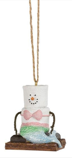 Midwest Smores Dressed as Mermaid Christmas Holiday Ornament