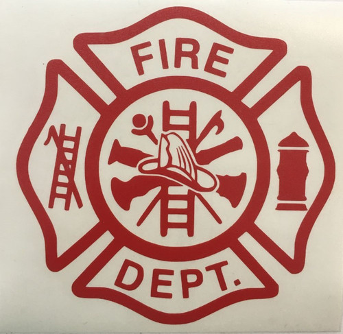 Firefighter Fireman Vinyl Decal Sticker Car Window 5.5 Inch Laptop Flat Surface