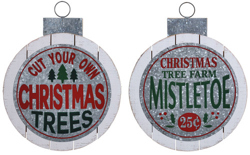 Special T Imports Cut Your Own Mistletoe Tree Farm Ornament Door Hanger Set of 2