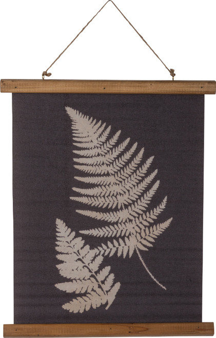 Primitives by Kathy Double Fern Leaves Botanical Canvas Wall Plaque 19.5 Inches