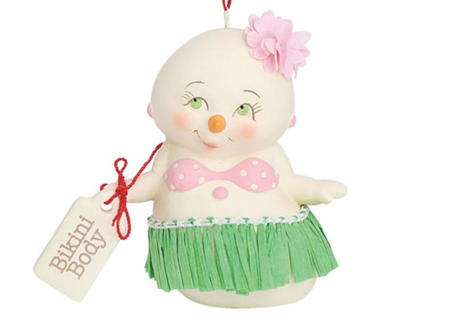 Bikini Body Christmas Holiday Ornament Snowpinions Beached Collection