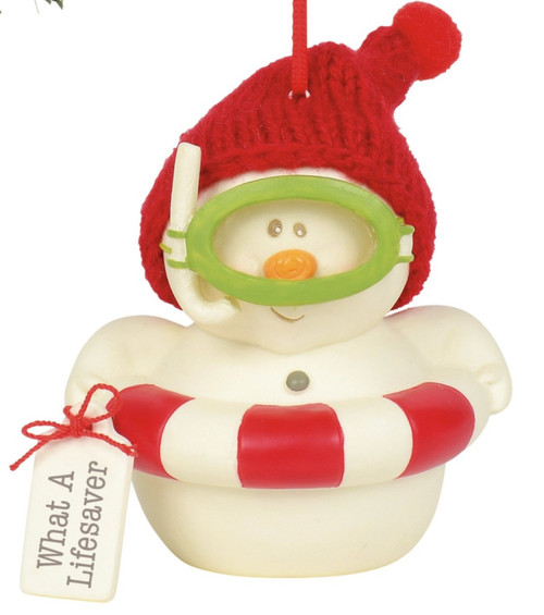 What a Lifesaver Holiday Ornament Snowpinions Beached Collection