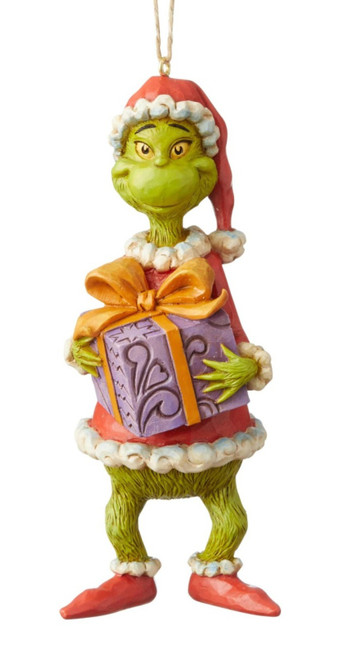 Grinch Holding Presents Christmas Holiday Ornament Grinch by Jim Shore