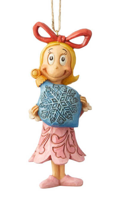Cindy Lou Who Holding Blue Snowflake Holiday Ornament Grinch by Jim Shore