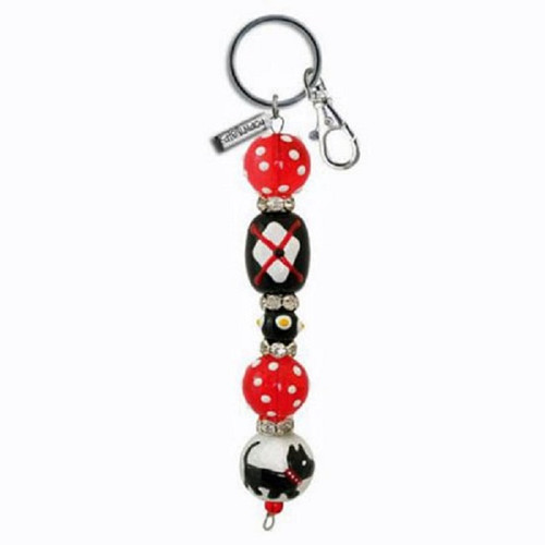 Clementine Dotty Scotty Scottie Dog Rhinestone Glass Bead Kate and Macy Keychain