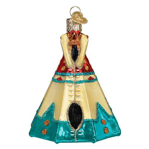 Teepee Wigwam Christmas Holiday Ornament Glass