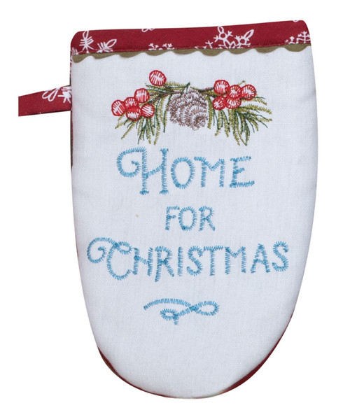 Our Christmas Story Home for Christmas Embroidered Kitchen Oven Grabber Mitt