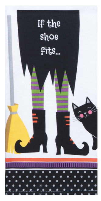 If the Shoe Fits Witch Legs Dual Purpose Kitchen Dish Terry Towel