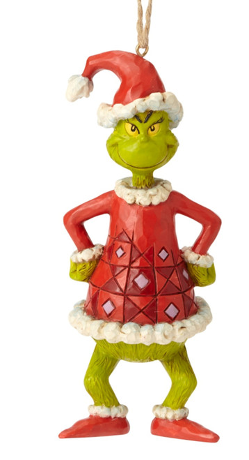 Grinch Dressed as Santa Holiday Ornament Grinch by Jim Shore