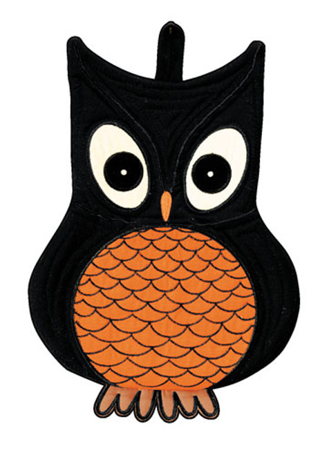 Wise Hoot Owl Oven Mitt Kitchen Pot Holder