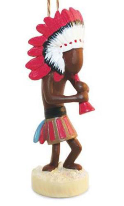 Southwestern Kokopelli Blowing Horn Christmas Holiday Ornament Resin