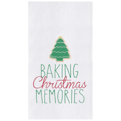 Baking Christmas Memories Cookies Holiday Kitchen Flour Sack Dish Towel