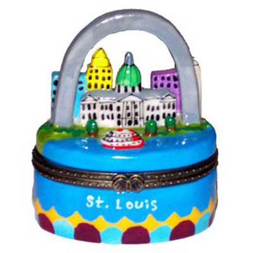 Gateway Arch St. Louis Missouri Porcelain Hinged Trinket Box