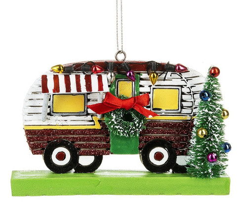 All Decked Out Camper Christmas Holiday Ornament 4.75 Inches