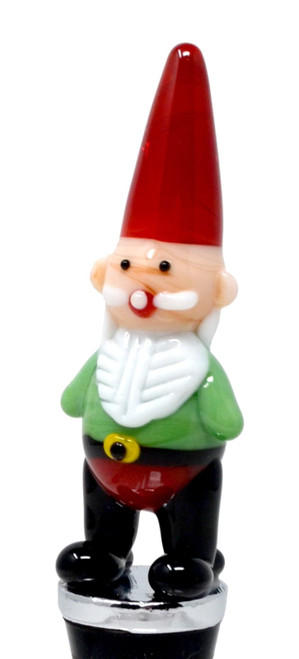 Garden Gnome Red and Green Wine Bottle Stopper Topper