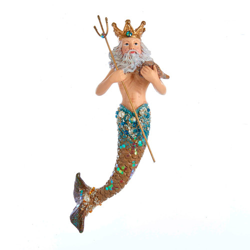 King Neptune Nautical Christmas Holiday Ornament Resin