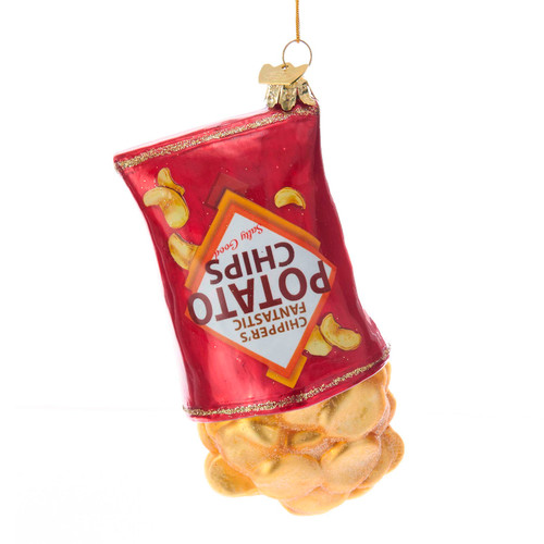 Noble Gems Bag of Potato Chips Christmas Holiday Ornament 5 Inches