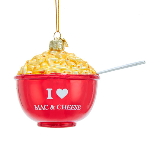 Noble Gems Bowl of Mac and Cheese Christmas Holiday Ornament 4.25 Inches
