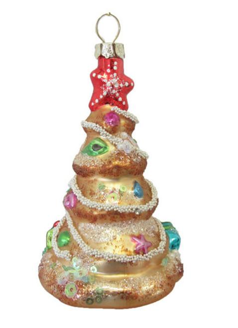 Coastal Tree with Jewels Christmas Holiday Ornament