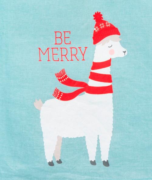 Be Merry Llama Christmas Holiday Kitchen Dish Towel