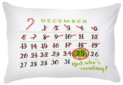 Countdown to Christmas Single Pillow Case Standard Size