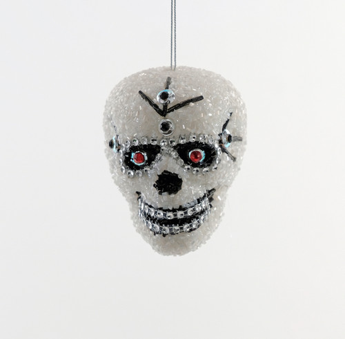 Katherine's Collection Encrusted Day of Dead Skull Halloween Holiday Ornament