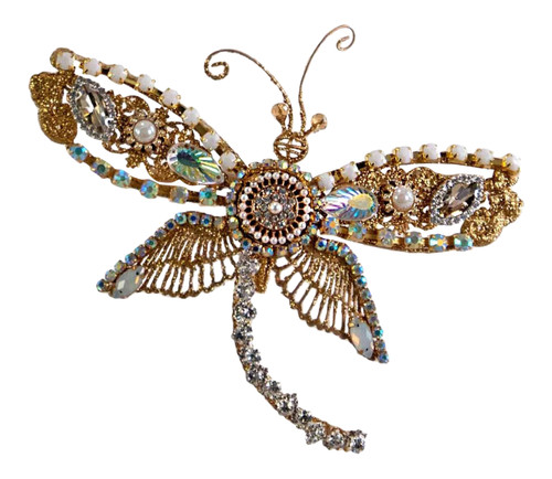 Katherine's Collection Dragonfly Jewel Rhinestones Clip On Holiday Ornament