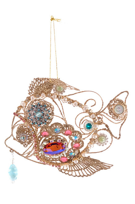 Katherine's Treasures of the Sea Jeweled Sun Fish Christmas Holiday Ornment