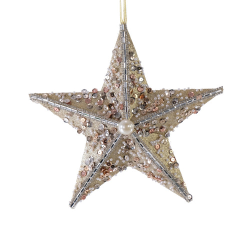 Katherine's Collection Golden Sand Encrusted Starfish Christmas Holiday Ornament