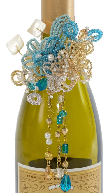 Katherine's Collection Treasures of the Sea Wine Bottle Jewelry Tag