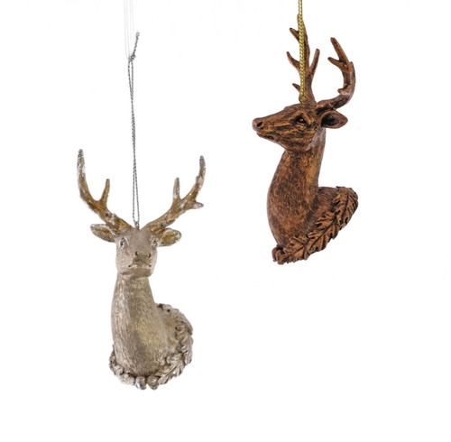 Katherine's Trophy Deer Christmas Holiday Christmas Holiday Ornaments Set of 2
