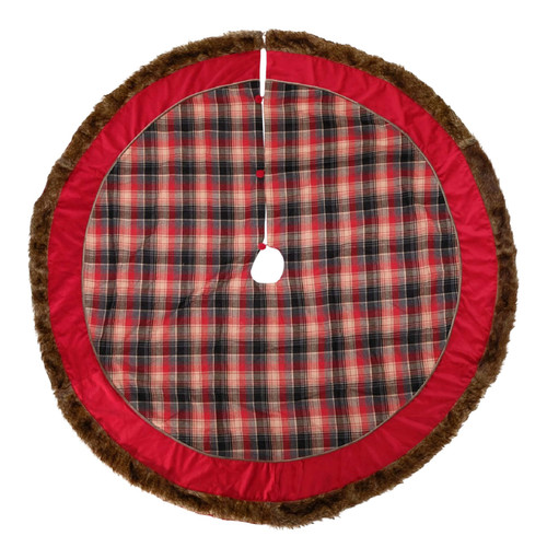 Katherine's Collection Aspen Plaid Christmas Holiday Tree Skirt