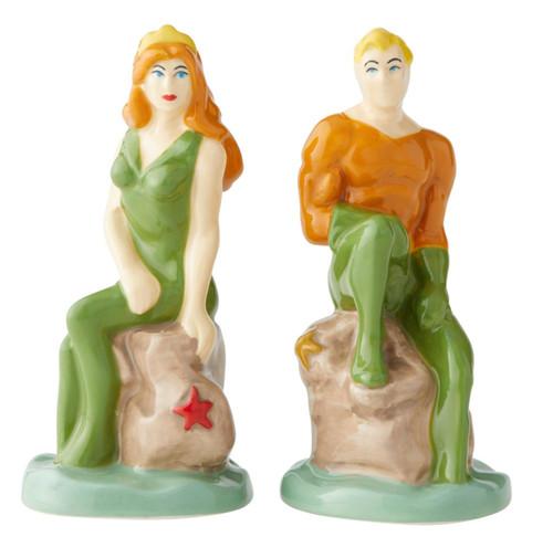 Aquaman and Mera Salt and Pepper Shakers Set Licensed
