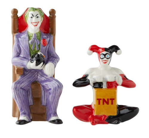 Joker and Harley Salt and Pepper Shakers Set Licensed