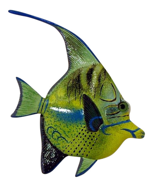 Queen Green Trigger Fish Wall Decor 12 Inches 12ANGW20A Resin