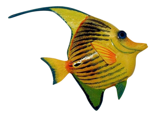 Yellow Tropical Fish Wall Decor 12 Inches 12ANGW15A Resin