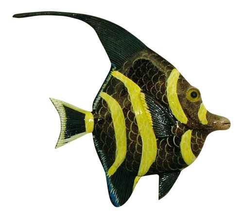 Brown and Yellow Fish Wall Decor 12 Inches 12ANGW05A Resin