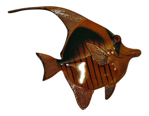 Brown and Black Antiqued Fish Wall Decor 12 Inches 12ANGW26A Resin