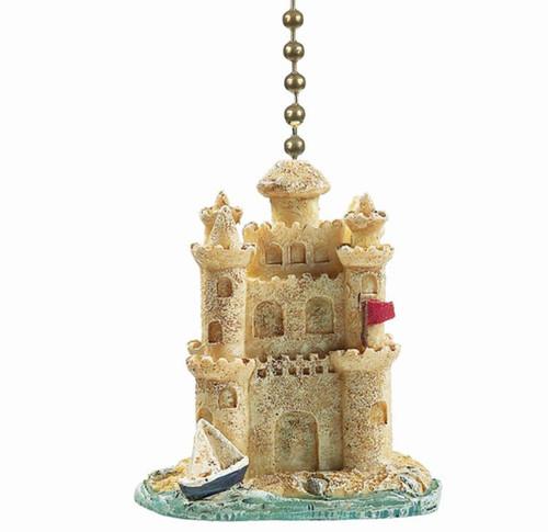 Sand Castle Ceiling Fan Light Pull Resin Three Dimensional